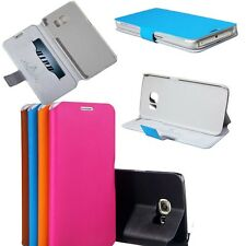 Genuine Leather Case Pocket Magnet Cover Stand For Samsung Galaxy S6 Edge G9250