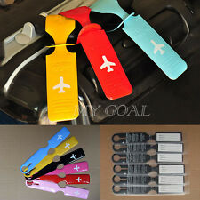 Luggage Baggage Tag Holder Striped Name Address ID Suitcase Bag Labels Travel
