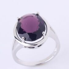 18K white gold filled adorable lady purple sapphire crystal cute rings Sz6to10
