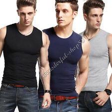Men's Crew Neck Sleeveless Tank Tops Undershirt Vests Athletic T-shirts