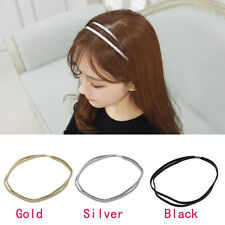 Women's Leather Woven Hair Band Double Braided Headband Girl Fashion Head Piece