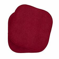 "Set of 2 Memory Foam Chair Pads - 17"" x 16"""