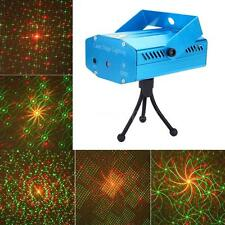 Mini LED Red & Green Laser Projector Stage Light Voice-activated DJ Disco Light