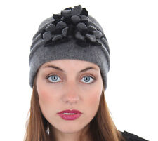 New Womens Ladies Warm Wool Flower Cloche Winter Thermal Fashion Hat