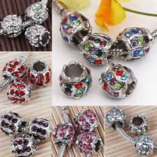 5pc Crystal Lantern 5MM Hole Loose Beads Charms Fit Bracelet Jewelry Making DIY
