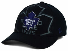 ZEPHYR NHL TORONTO MAPLE LEAFS COVERT BLACK FLEXFIT HAT NEW