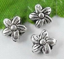Wholesale 60/130Pcs Tibetan Silver Flower Spacer Beads 7x4.5mm(Lead-free)