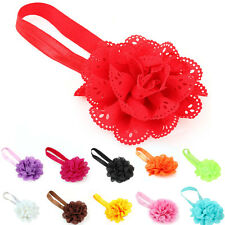 Toddlers Babies Girls Chiffon Flower Hair Head Band Accessory Fashion