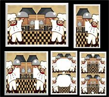 FAT CHEF IN KITCHEN COOKING LIGHT SWITCH COVER PLATE K1   U PICK PLATE SIZE