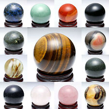25-60mm Wholesale Lot Mix Natural Gemstone Sphere Crystal Quartz Jasper BALL