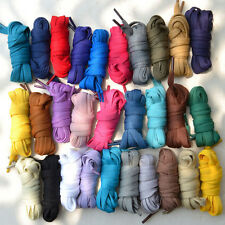 47''/55'' Candy Color Athletic Canvas Shoelaces Cotton Flat Dress Shoe Laces