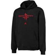 Men's adidas Houston Rockets Black Logo Pullover Hoodie Sweatshirt - NBA