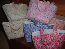 Handmade Daisy All Over Fabric Gift Tote Bag(s) * Choice of Colors *