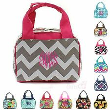 """Personalized Monogram 9"""" Insulated Cooler Lunch Bag Thermal Tote Box Lunchbox"""