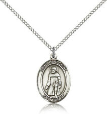 """Saint Peregrine Laziosi Sterling Silver,Sterling Filled or Pewter, 24""""/18"""" Chain"""