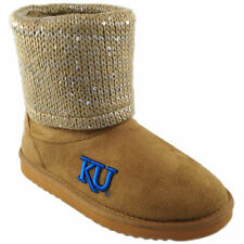 Kansas Jayhawks Women's Sweater Top Booties - Tan - NCAA