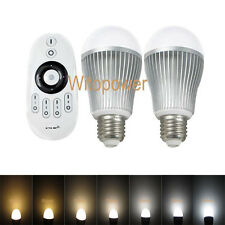 10X 2.4G Wireless E27 9W LED Bulb Dimmable 3000K-6500K White Touch Controller