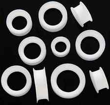 PAIR _ PURE WHITE Super Soft Silicone SKINS Ear Tunnels