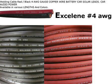 Welding Cable Red Black # 4 AWG EXCELENE COPPER WIRE BATTERY CAR SOLAR LEADS