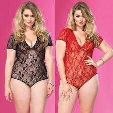 Plus Size Sexy Lace Lingerie 10 12 14 16 18 20 22 24 Babydoll , Nightdress