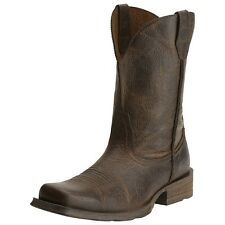 Ariat Western Boots Mens Rambler Cowboy Square Toe Wicker 10015307