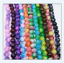 68 pcs 6mm Round Chic Glass Loose Spacer Bead Pick 18 Colors 1 Or Mixed DIY Y02