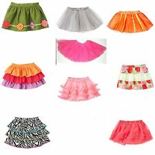Gymbore Baby Girl Skirt 0 3 6 12 18 24 2T 3T NWT Fairy,Posies,Zebra,Berry...