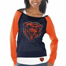 Chicago Bears Womens Holey Long Sleeve T-Shirt and Tank Top – Navy Blue/Orange
