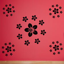 Floral Wall Sticker Stickers Transferts home pochoir décoration grand art autocollants