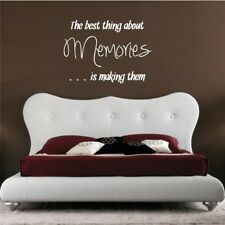 MAKING MEMORIES wall quote living room bedroom vinyl wall stickers