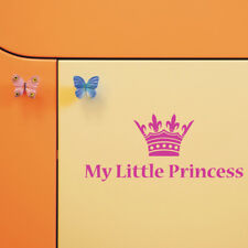 MY LITTLE PRINCESS CROWN wall quote decal bedroom girls vinyl sticker