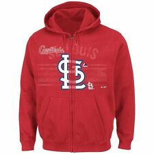 St. Louis Cardinals Majestic Great Game Full-Zip Hoodie - Red - MLB