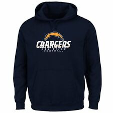 Mens San Diego Chargers Navy Blue Critical Victory Pullover Hoodie - NFL