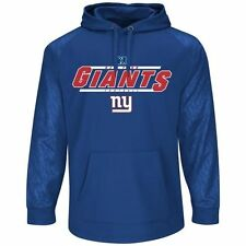Mens New York Giants Majestic Royal Blue Synthetic Pullover Hoodie - NFL