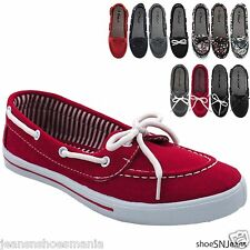New Women Comfy Causal Slip On Round Toe Moccasin Flat Comfort Boat Loafer Shoe