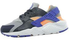 Nike Air Huarache GS Grey Black Purple Juniors Womens Girls Boys Trainers 654280