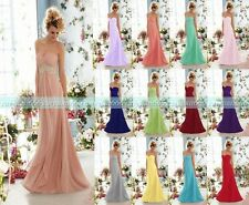 New Chiffon Formal Long Evening Gown Party Prom Bridesmaid Dress Size 6-18