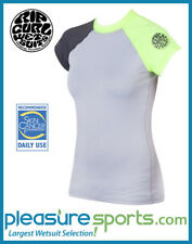 Rip Curl Women's Rashguard Surf Session Cap Sleeve Rash Guard 50+ UV Protection