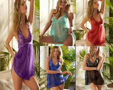 NEW Fashion Sexy Lingere Floral Chemise Robe Sleepwear Gown Plus Size K208