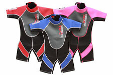 CHILDREN KIDS BOYS GIRLS NALU BLUE PINK SHORTIE WETSUITS ALL SIZES AGES 1yo-12yo