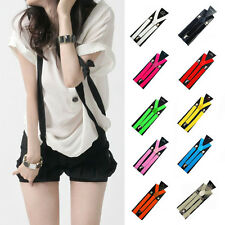 New Fashion Elastic Clip-on Solid Color Suspenders Y-Shape Adjustable Braces USA