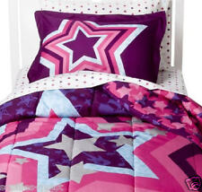 5 7 pc- Circo STAR POWER Reversible COMFORTER SHAM + SHEET Set ROCK STARS PURPLE
