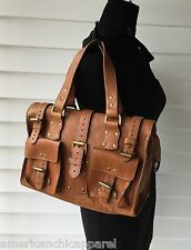 Authentic Mulberry  Roxanne Oak Darwin Leather Light brown Tote Shoulder bag