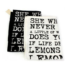 VINTAGE KITCHEN QUOTE TOWEL TEA DISHES DISH CLOTH CLEANING DRYING COTTON HOME