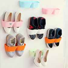 Useful Convinient Wall-Mounted Sticky Hanging Shoe Organizer Rack Hanger Holder