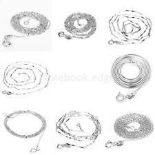 18 inches 925 Sterling Silver Chain Necklace 1mm DIY Jewelry Wedding Gift Unisex