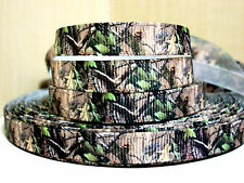 """3 yard of 3/8"""" Grosgrain Ribbon - REAL TREE CAMOUFLAGE Print Scrapbooking or Bow"""