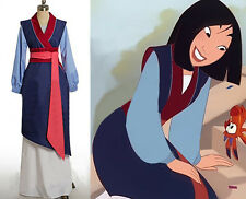 Custom-made Hua Mulan Dress Blue Dress Princess Dress Movie Cosplay Costume