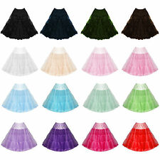 "Womens Ladies New 22"" Hell Bunny Flared Party Prom Vintage 50s Jive Petticoat"