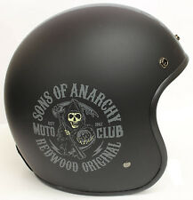 Casque Jet Moto Fantaisie SAMCRO Officiel 'Sons Of Anarchy'